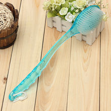 Practical Long Handled Body Bath Shower Back Brush Scrubber Massager Disability Helper(China)