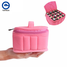 Portable 16 Bottle 15ml Essential Oil Storage Bag Carrying Holder Case Travel Nail Polish Organizer Storage Box Container Casket(China)