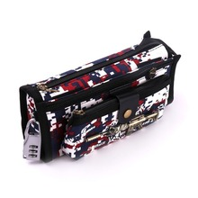 Boys School Pencil Case CF Pen Bag With Code LockStudent Stationery Camouflage Pencil Bag Escolar Papelaria(China)