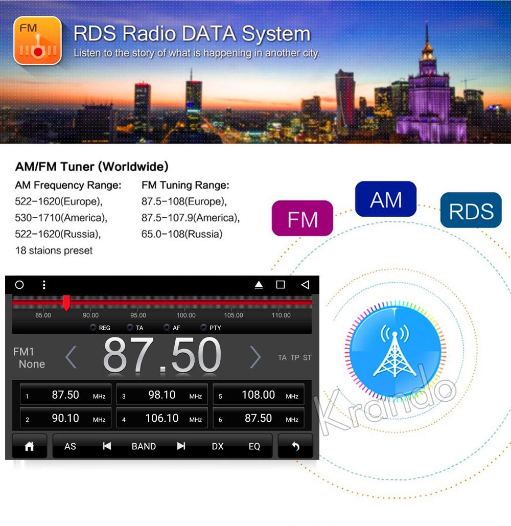 Krando Android car radio gps navigation multimedia system for Honda accord 7 2003 2004 2005 2006 2007