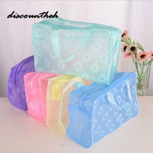 Plastic Transparent Organizer bags Cosmetic Bags Makeup Casual Travel Waterproof Toiletry Wash Bathing Storage bags