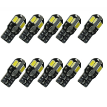 CQD-Light 10PCS Canbus T10 8smd 5630 5730 LED car Light Canbus NO OBC ERROR T10 W5W 194 SMD Led Bulb