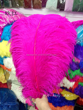 50pcs / lot 26-28 inch ostrich feathers Rose feathers craft ostrich feathers wedding party decorations 65-70 cm