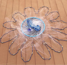 American style throw network 3-7.2m cast net small size mesh outdoor sports hand fishing net tool with frisbee