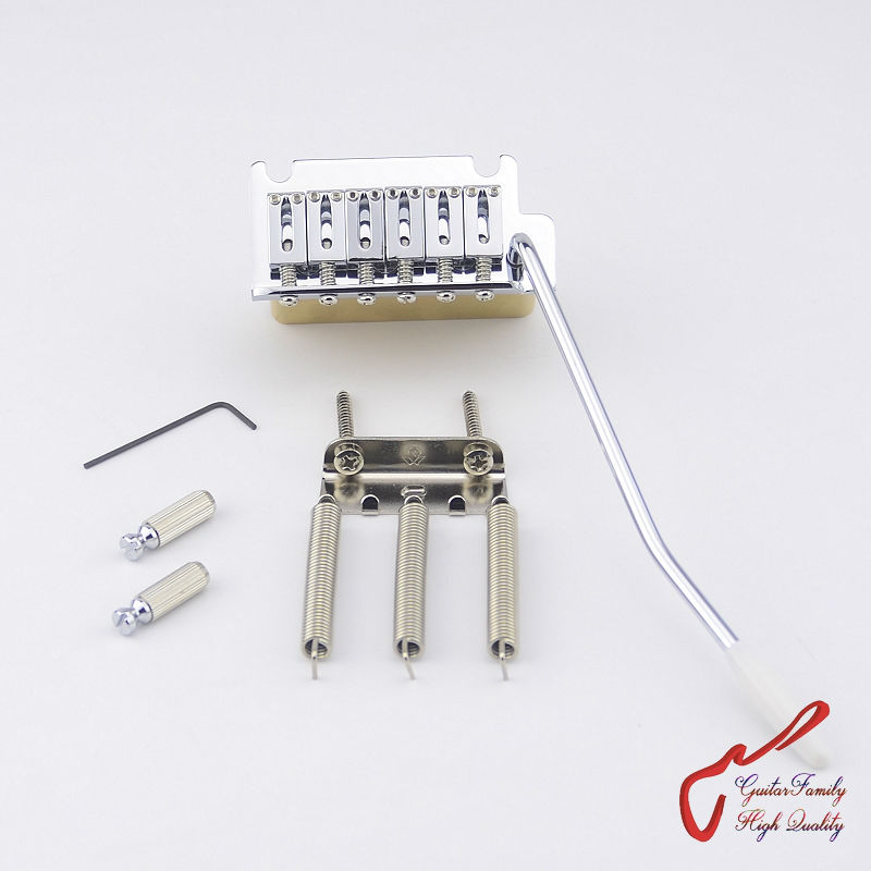 1 Set GuitarFamily Super Quality Chrome 2 Point  Tremolo System  Bridge With Brass Block  ( #1260 ) MADE IN TAIWAN<br>