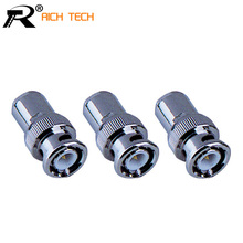 BNC male clamp CCTV accessories RG58/RG/RG59/RG6 CCTV Security Coax Coupler Video BNC Connector Adapter RF Convertor(China)