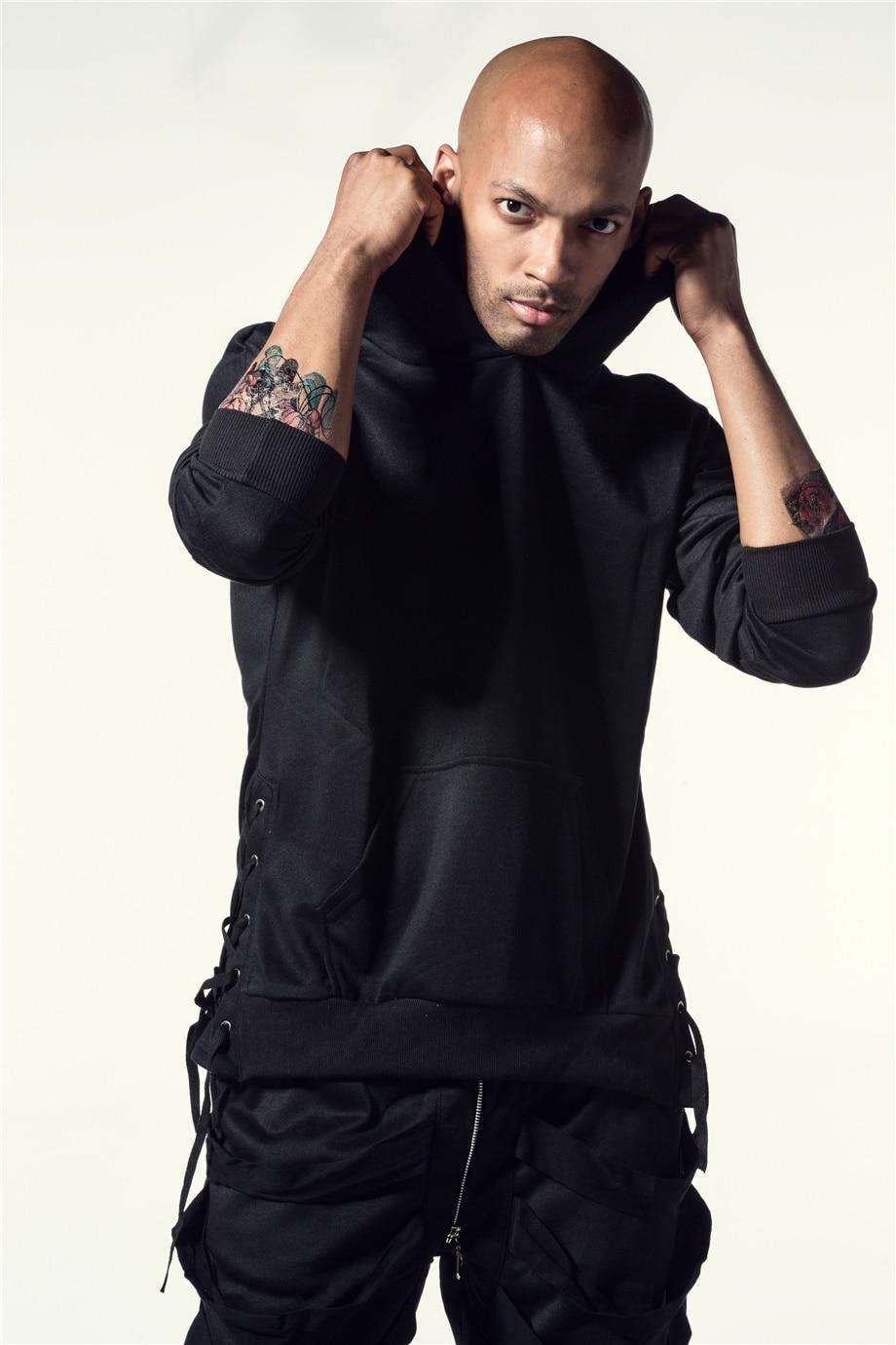 Una Reta Brand New Design Hoodie Men Fashion Sweatshirts Bandage Design Hip-Hop Style Plus Size M-5XL Pullover Sweatshirts Men 9