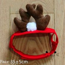 New 2017 100%cotton Cat Costumes Christmas Buckhorn hat Pet Puppey Product dog cat clothes Christmas For Cat Spring Summer(China)