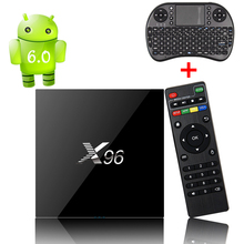 X96 Android Tv Box With i8 Keyboard Amlogic S905X Smart Media Player 2GB 16GB Android 6.0 Marshmallo Set top Box WiFi 4K H.265