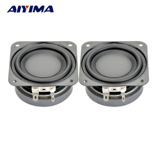 2Pcs 2.5Inch Audio Speakers DIY Portable Speaker 4Ohm 10W 20MM Subwoofer Aluminum Tube Voice Coil PP Pots PU Side Speakers
