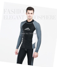 Sbart UPF 50+ long sleeve swim shirtsurfing wetsuit tops uv rash guard sun protective clothing swimming shirt water shirts