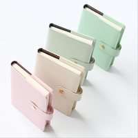 A6 Mini Pocket Leather Notebook Creative PU Portable Planner Of Replaced Fitted Filler Papers Cute Candy Color Organizer Book