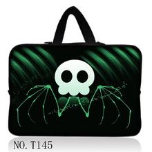 "Green Skull 17"" Laptop Sleeve Bag Case Notebook Cover For Apple MacBook Pro Dell"