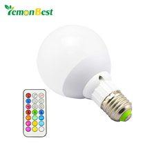 10W 800LM E27 RGB LED Light Bulb for Home 12 Color Cool/Warm White Dimmable Lamp with Remote Control Timing Function DC 85-265V(China)