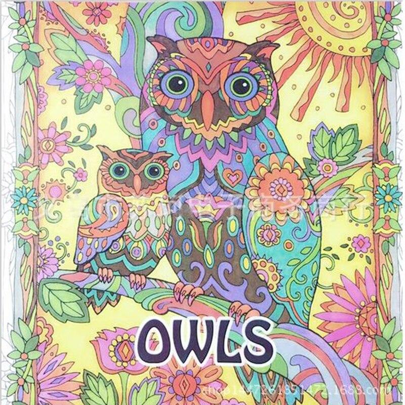 Secret Garden Series OWLS Coloring Books Parent Child Interaction Inspiration Graffiti Interesting Anti