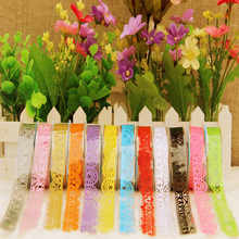 1pcs DIY Candy Colors Hot Lace Tape Decoration Roll Decorative Sticky Paper Masking Tape Self Adhesive Tape