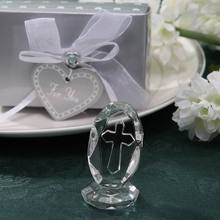 100pcs/lot Choice Crystal Collection Crystal Cross Figurines Birthday Keepsake Religious Party Accessories
