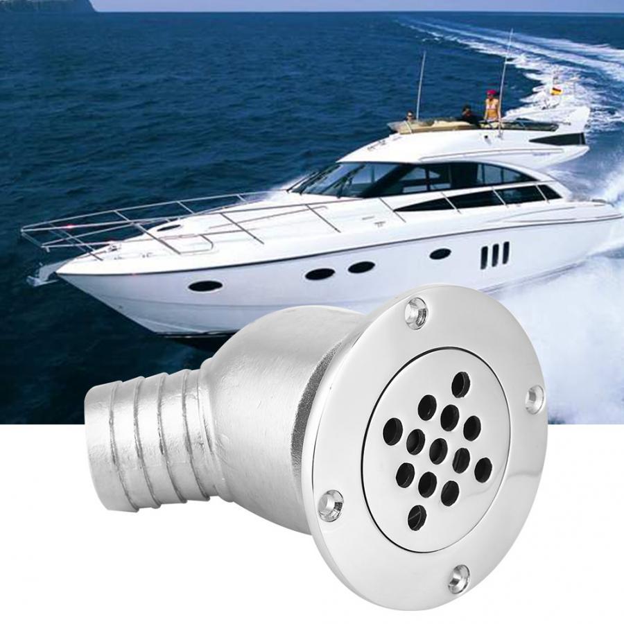 1PC 90 Degree 1-1//4 Inch Boat Deck Drain  Polish S.S  Marine Hardware
