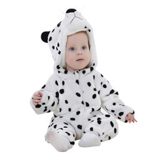 Baby rompers Winter Toddler Newborn Baby Boys Girls Animal Cartoon Hooded Rompers Outfits Baby Clothes drop ship(China)