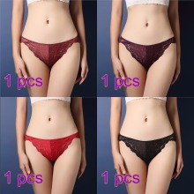 Buy 4pcs/lot Fashion Women Underwear Sexy Lace Transparent Low Waist Hollow T Back Panties Lady Briefs Panties Hot culotte femme 37