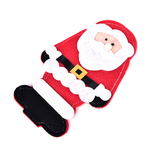 1PCS Christmas Santa Claus Knife Fork Tableware Bags Dining Restaurant Table Decoration Holder Christmas New Year Kitchen Decor