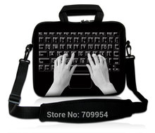 "10""13""14""15""17"" Neoprene Keyboard Design Laptop Shoulder Bag Case Soft Computer Messenger Carrying Pouch Cover For Dell Asus"