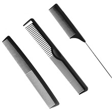 3 Style Black Hairdressing Comb Anti-static Hair Cutting Combs Detangle Straight Hair Pro Salon Barber Styling Tool(China)