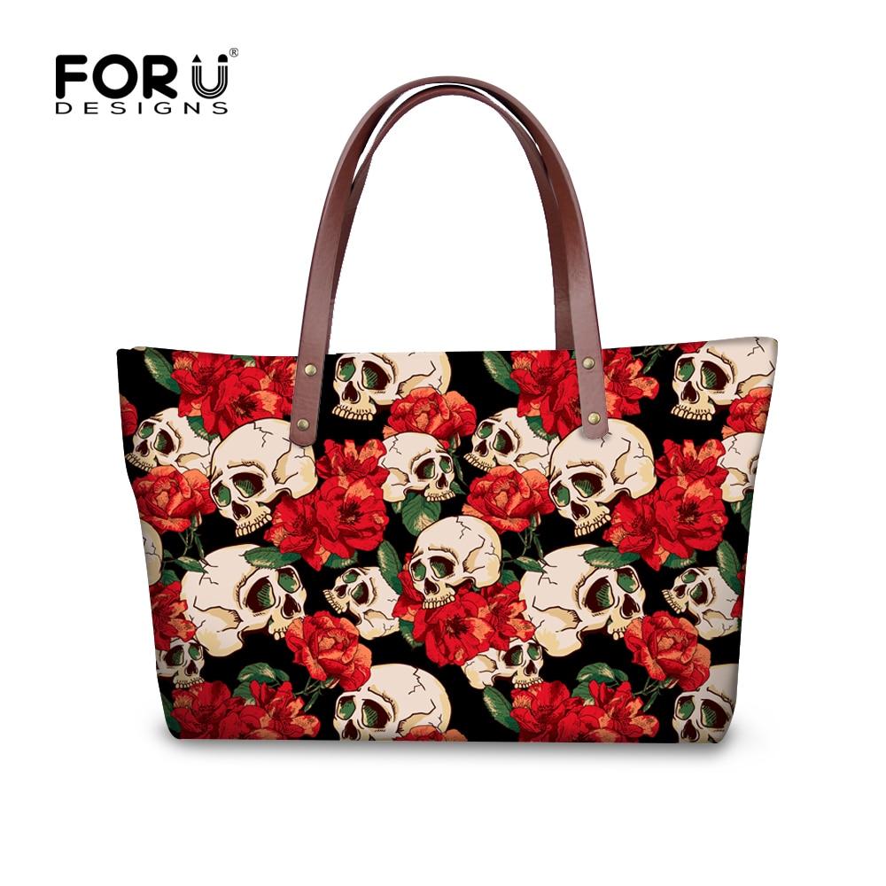 Famous Brand Women Handbag Hip-Hop Style Skull Shoulder Bag Multi-function Travel Shopping ladies Tote Bags Extra Large Bolsos<br><br>Aliexpress