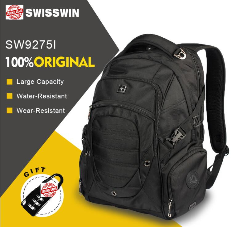 Swisswin swiss army 15.6 male waterproof large capacity  laptop backpack gear Swisswin high quality brand  backpack school bag<br>