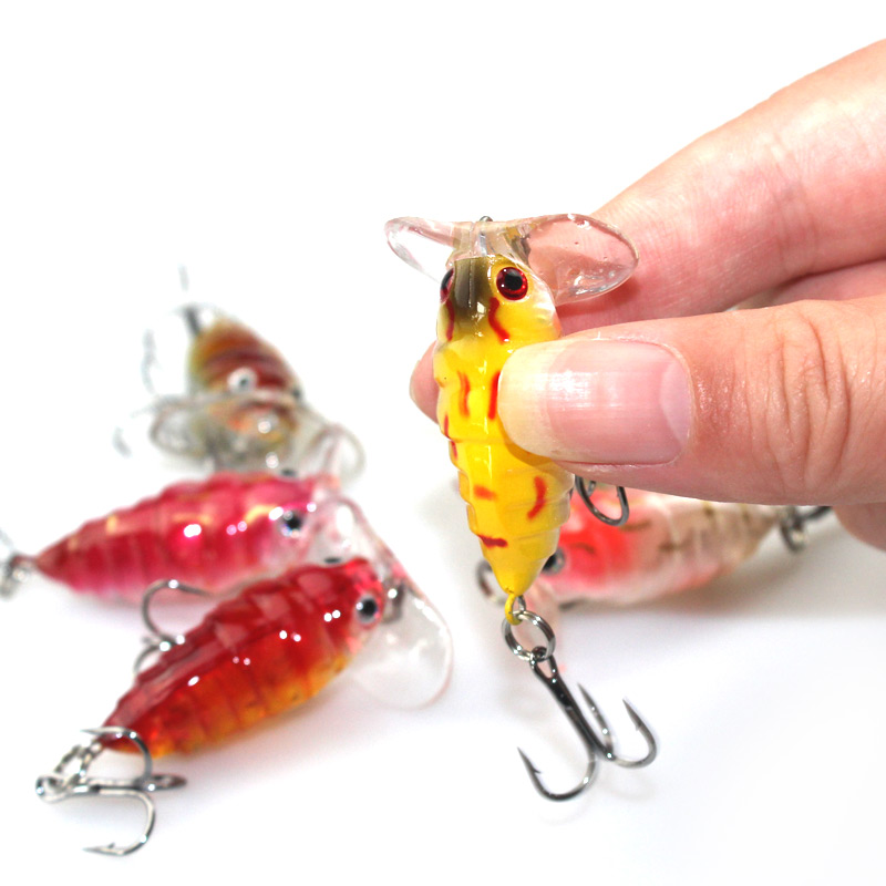 1 Pcs Plastic Top water Insects Lure 4cm 4.2g Fishing Bait Bass Crank Bait Free Shipping YE-206<br><br>Aliexpress