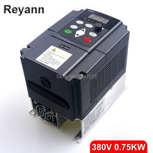 New 380vAC 0.75kw VFD Variable Frequency Drive VFD Inverter 380v 3 phase Input 3 phase Output 380V 2.5A 750W Frequency inverter