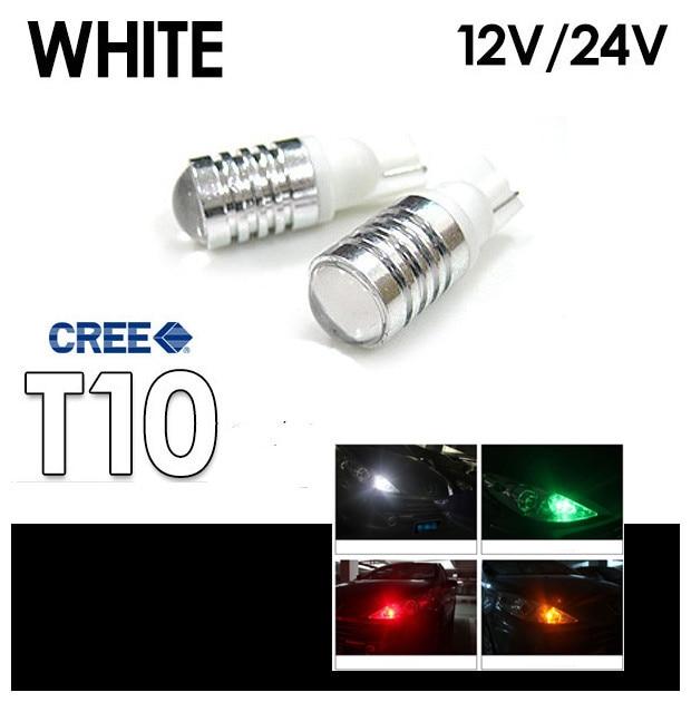 Cheetah Free shipping Power 5W C-R-EE 12V 24V T10 W5W 194 168 white LED Width Lamp car wedge light bulb<br><br>Aliexpress