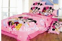 pink Character minnie mickey girls bedding twin full queen king size comforter cotton quilt duvet covers bed in a bag sheets set