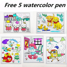 5Pcs Watercolor pen Baby child painting paint suit washable, non-toxic paint graffiti watercolor painted toys W046