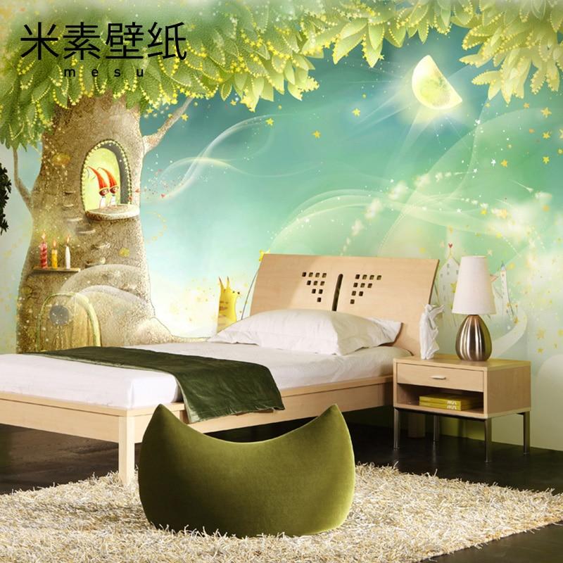 2016 Papel Pintado Wall Paper M - Korean Mural Wall Of The Tv Background Paper Children Bedroom Girl Hua Xianzi Cartoon Murals <br><br>Aliexpress