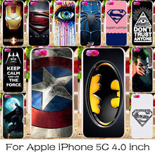 TAOYUNXI Silicone Plastic Phone Cover Case For Apple iPhone 5C iphone5C 4.0 inch Bag Shell For iPhone 5C Captain American Case(China)