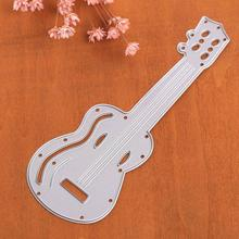 New Universal DIY Cutting Guitar Shape Dies Stencil Scrapbook Embossing Card Craft Music Instrument Style Decor