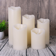 flameless wave edge electrical led wax candle,candle light for halloween/ christmas party decorative,wedding candle decoration(China)