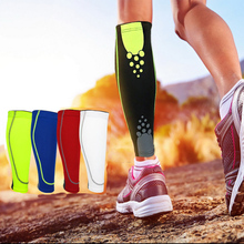 1PCS Basketball Football Leg Sleeves Calf Compression Running Cycling Shin Guards UV-Protector Soccer Fitness calcetines 7 Color