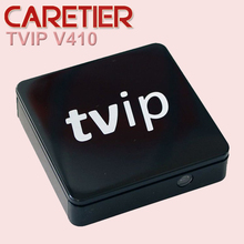 1PC mini Set Top Box of TVIP Box Linux or Android 4.4 Double System support H.265 1920x1080 quad core  tvip V410 V412