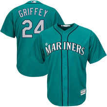MLB Men's Seattle Mariners Ken Griffey Jr. Baseball Northwest Green Alternate Cool Base Player Jersey(China)
