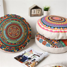 Wholesale birthday gift Mandala pattern round pillowcase diameter 45cm Pillow case Home Decor Sofa decorative Cushion Cover(China)