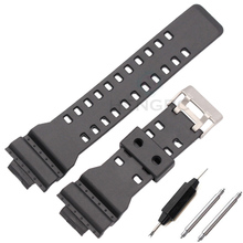 16mm Silicone Rubber Watch Band Strap Fit For Casio G Shock Replacement Black Waterproof Watchbands Accessories(China)