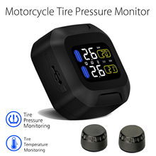 Blueskysea Wireless Motorcycle TPMS Tire Pressure Monitor Tempreature with External Sensors Waterproof(China)