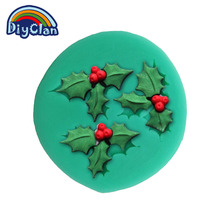 Cake Stand Bakeware Christmas Tree Leaves Molds for Cake Christmas dacoration Fondant form Chocolate Soap Mould Tools F0311YZ35