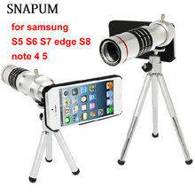 SNAPUM Cellphone mobile phone 18x Camera Zoom optical Telescope telephoto Lens For Samsung note 4 5 galaxy S4 S5 S7 edge S8(China)
