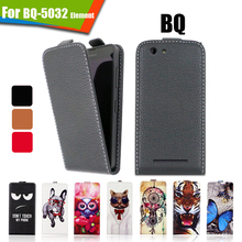Newest Luxury Printed Cartoon PU Leather Up and Down 100% Special Flip case cover For BQ BQ-5032 Element,Gift