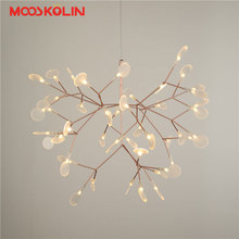Nordic Modern LED Firefly Pendant Lights Fixture Flower Tree Branch Droplight Home Indoor Dining Room Restaurant Parlor Lighting(China)