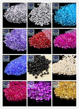 1000 pcs / lot  6mm 1Carat Wedding Decoration Acrylic Scatter Table Crystals Diamonds Acrylic Diamond Crystal Confetti