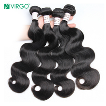 Virgo Hair Company Raw Indian Body Wave Human Hair Weave Bundles 1 Pc Fuller Hair Extensions 100% Natural Remy Hair Last Longer(China)